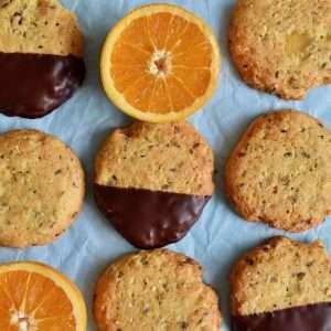 A lovely orange-ginger cookie